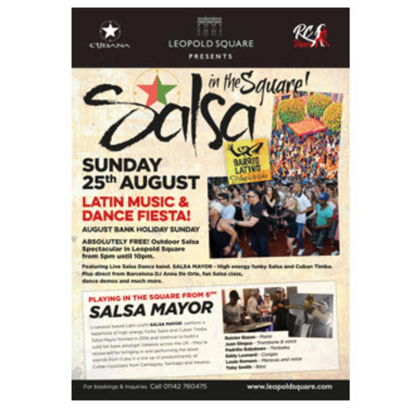 Salsa in the Square - Sunday 25th August